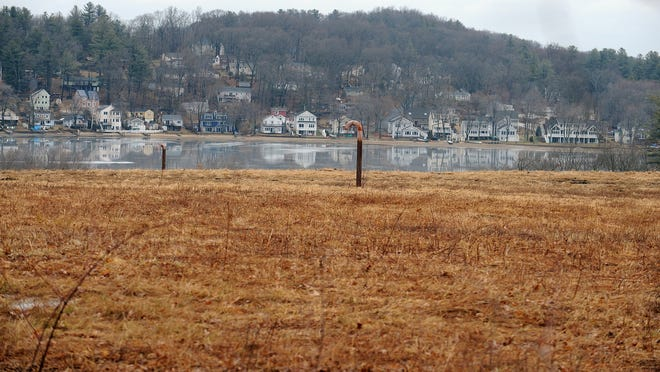 Marlborough's Hudson Street landfill, seen here with the Fort Meadow Reservoir in the background, is being eyed as the site of a possible solar facility.