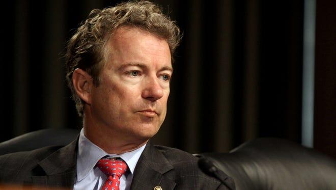 Sen. Rand Paul, R-Ky., listens April 1, 2014, during a Senate subcommittee hearing.