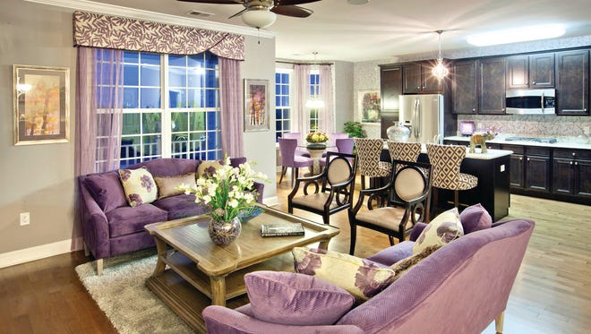 The Ibis model at Four Seasons at Great Notch offers a spacious, open floor plan.
