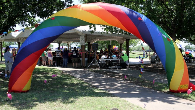 PRIDE in the Falls, an event celebrating the LGBTQIA population and diversity, had vendors, games, a lip sync battle and more Saturday, June 10, 2017, at South Weeks Park.