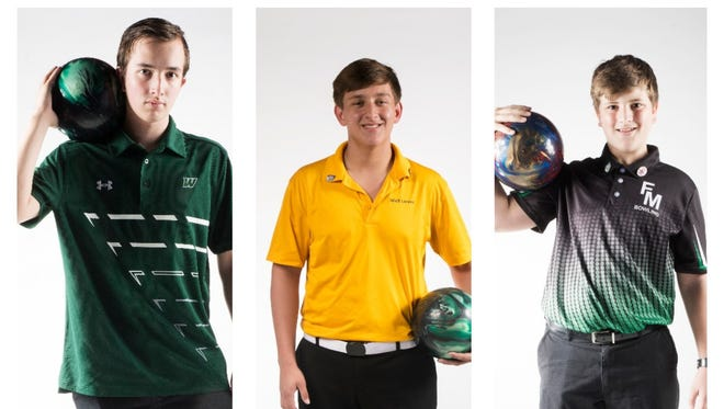 The finalists for The 2017 News-Press All-Area Bowler of the Year are (from left) Wyatt Smith, Nick Larsen and James McIver.