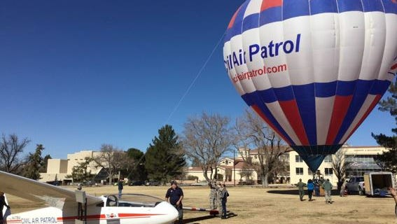 Members of the Civil Air Patrol are shown at an informational event at NMSU on Jan. 27.