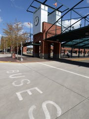 The Courthouse Square & Transit Mall is void of buses Saturday, April 4. Salem-Keizer Transit officials are considering bringing back Saturday service and extending evening hours.