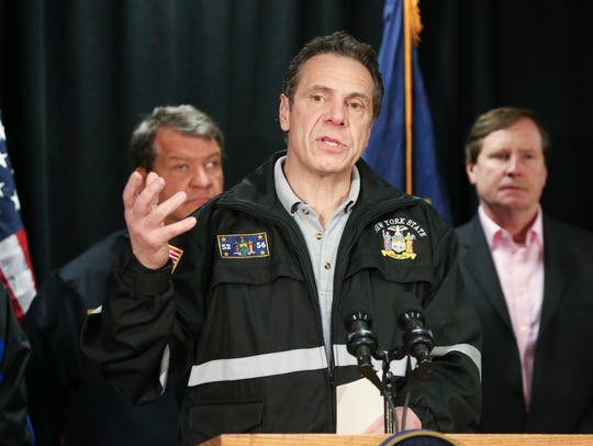 2:10 p.m. Gov. Andrew Cuomo and administration officials