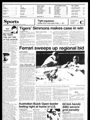 This week in BC Sports History - week of Aug. 13, 1985