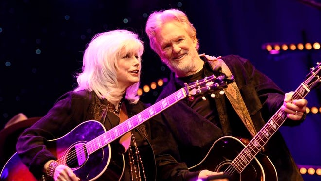 Emmylou Harris performs with Kris Kristofferson during The Life and Songs of Kris Kristofferson at Bridgestone Arena on Wednesday.