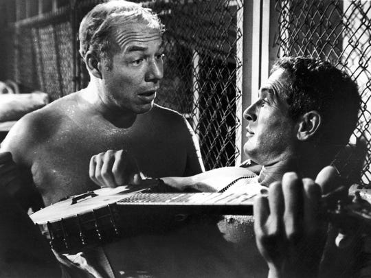 """George Kennedy (l) and Paul Newman in """"Cool Hand Luke"""""""