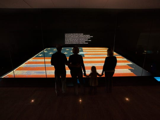 The Star Spangled Banner at the Smithsonian's National Museum of American History in Washington.