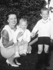 Rosemary Martin Christman with son Peter on her lap