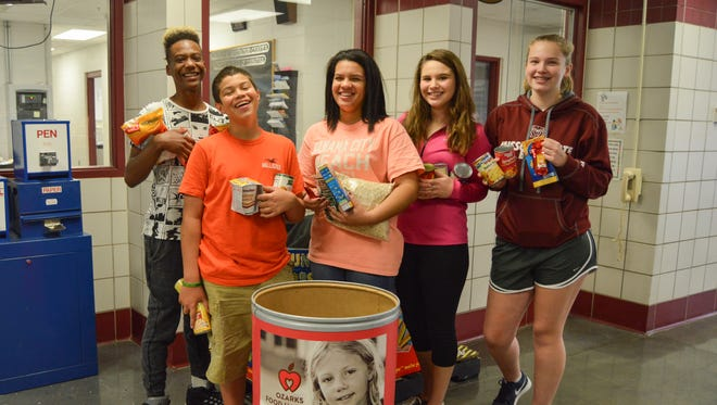 Carver students collected food for annual school food fight