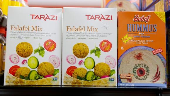 Falafel and hummus mixes at Bismillah Groceries and