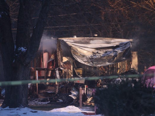 Three died including a child in a fire at a mobile home on Fondiller Avenue in Penfield.