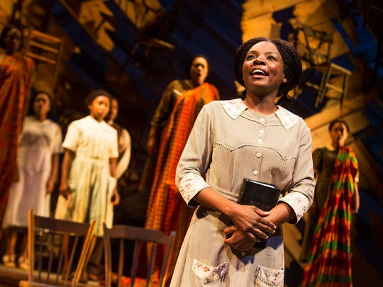 "Joaquina Kalukango in a scene from Broadway's ""The Color Purple."""