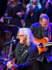 "Ricky Skaggs sings ""Honey, Open That Door"" at the public memorial service for Mel Tillis at the Ryman Wednesday Jan. 31, 2018, in Nashville, Tenn"