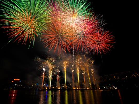 Western & Southern/WEBN Fireworks at Riverfest