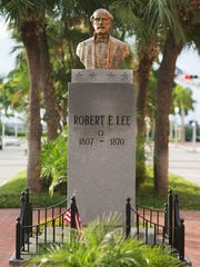 The Confederate Gen. Robert E. Lee Memorial is on Monroe Street in Fort Myers. It was erected in 1966 by the United Daughters of the Confederacy with assistance from Lee County citizens.