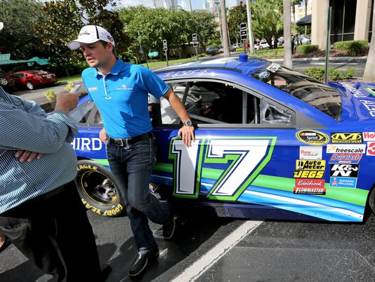 Joie Chitwood and Ricky Stenhouse Jr.