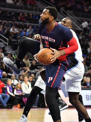 Pistons center Andre Drummond is averaging 14.1 points.