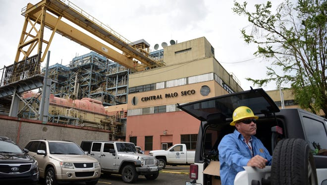 PREPA employee Jose Colon Maldonado waits for Governor Ricardo Rossello  to take a tour thru the facilities of the Palo Seco Thermal Power Plant last fall.