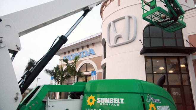Construction of a new Honda dealership on U.S. 41 in Estero was almost complete Dec. 30. Coconut Point Honda has since opened.