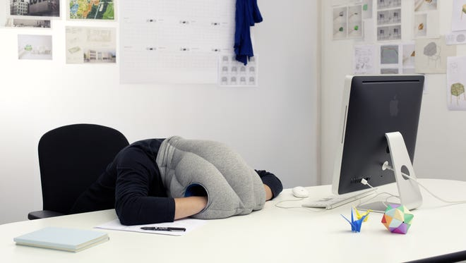 """Selling """"unstress"""" has become a multi-billion dollar industry. This is the Ostrich Pillow."""
