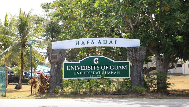 The University of Guam entrance is shown in this March 5, 2015, file photo.
