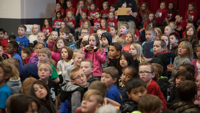 Washington County School District children attend an assembly in this file photo from Dec. 2016.