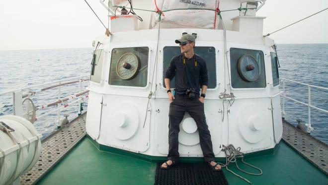 Coloradoan reporter Jason Pohl on rescue vessel  Minden
