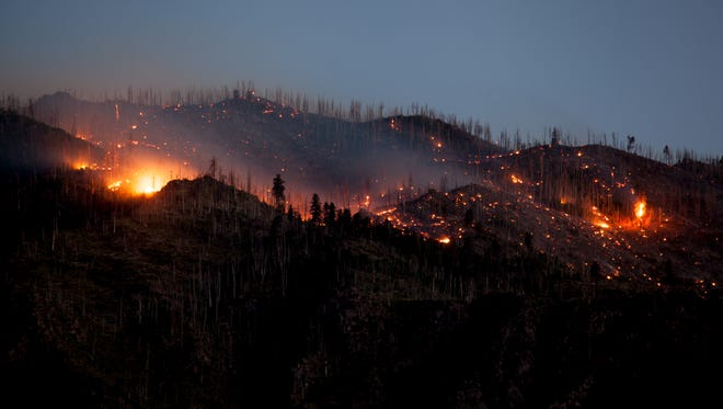 The West Valley Fire near New Harmony Saturday, June 30, 2018.