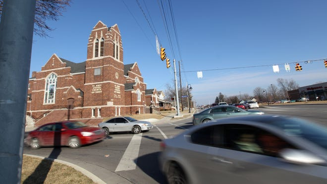 On Feb. 10, 2015, cars speed past St. John United Church of Christ in Cumberland at German Church Road and Washington Street.