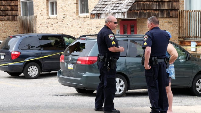 York City Police investigate a reported shooting on Park Street Tuesday, April 19, 2016. John A. Pavoncello photo