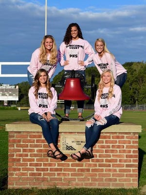 The Pleasant High School Homecoming Queen will be crowned Oct. 6, at the game against Buckeye Valley. The 2017 Homecoming Court are, from left, seniors,Ellie Campbell,Emmerson Davis,Leah Maniaci,Ashley James and Ashley Anderson.