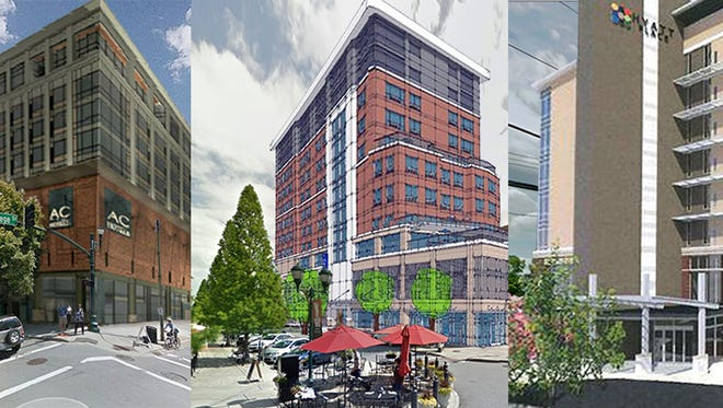 Composite of three new Asheville hotels