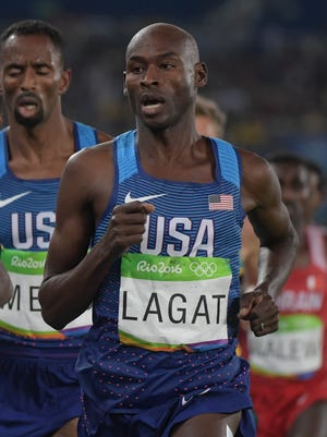 Bernard Lagat finished fifth in the 5,000.