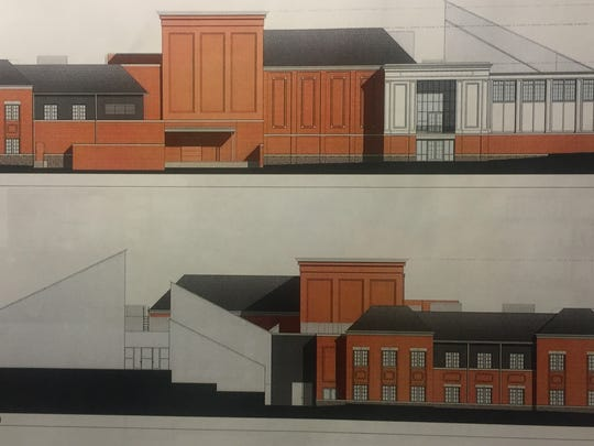 These rendering depict how the new center will look from the east and west, respectively.