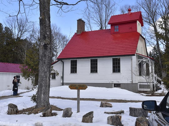 Most of the exterior renovations of the Upper Range Lighthouse was completed last year at The Ridges Sanctuary in Baileys Harbor. It included a new red roof.