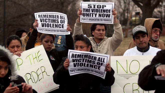 A Plainfield anti-violence rally in 2009.