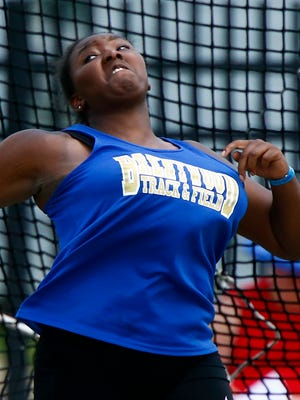 Brentwood's Katherine Coffey won the shot put and discus on Thursday in the TSSAA Track and Field Large Class state meet.