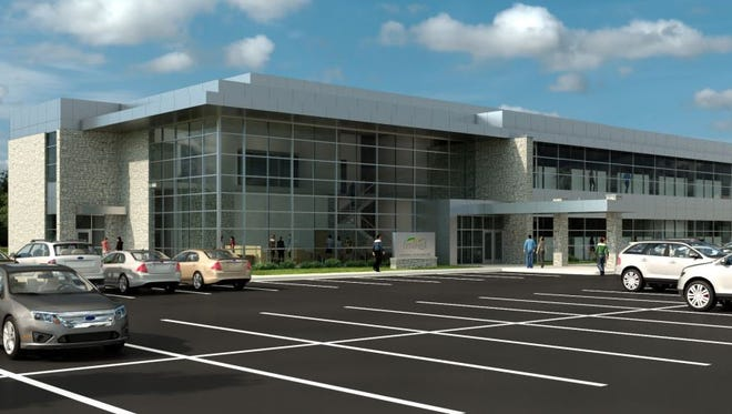 An artist's rendering of the proposed new Festival Foods corporate headquarters on Lawrence Drive in De Pere.