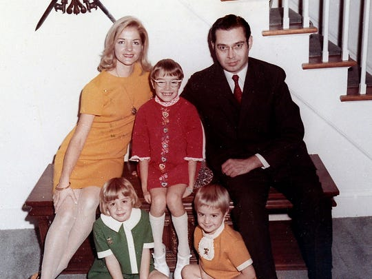 A 1971 family portrait of Gwen Edland, top left, John