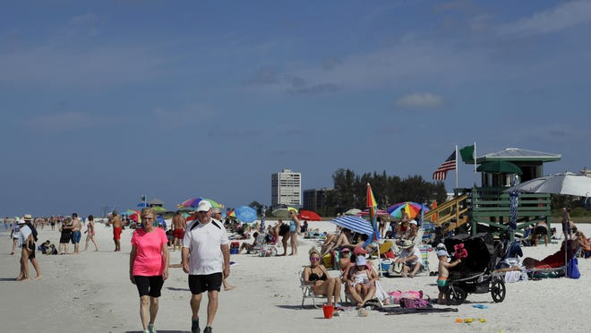 Siesta Beach on Siesta Key in Sarasota, Fla. Siesta Beach is No. 1 on the list of best beaches for the summer of 2017 compiled by Stephen Leatherman, also known as Dr. Beach, a professor at Florida International University.