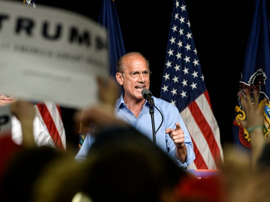 Tom Marino, at the time a Republican congressman from Pennsylvania, was President Donald Trump's choice to head the Office of National Drug Control Policy but withdrew from consideration after reports that he backed legislation that restricted the enforcement of opioid laws.
