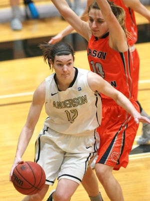 Jennifer Monroe was named South Atlantic Conference player of the year in her senior season at Anderson University. She is now playing professionally in Australia.