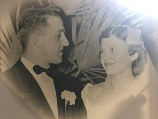Roger and Audrey Otten on their wedding day in January