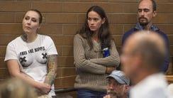 Samantha Six, left, was a plaintiff in a federal lawsuit
