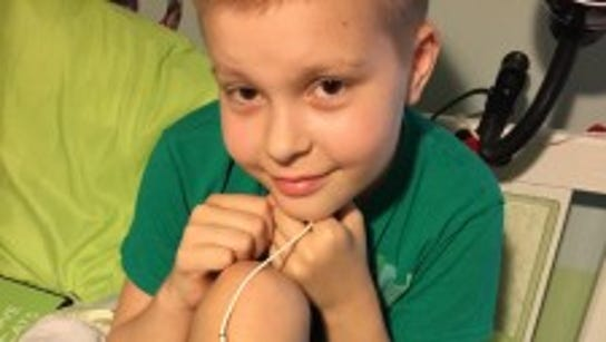 Bekah Tuckey, 9, was diagnosed with leukemia at the