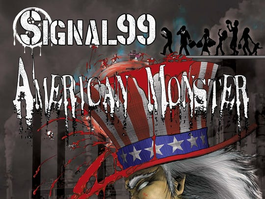 """The cover art for Signal 99's """"American Monster"""" CD was done by Derrick Lee."""