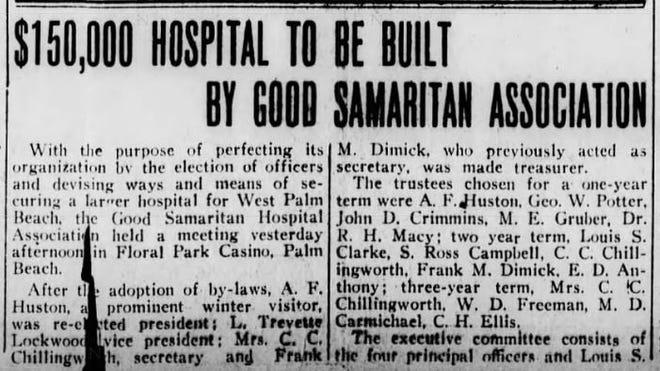 $150,000 hospital to be built by Good Samarital Association