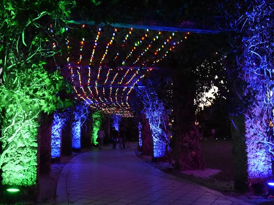 Nights Lights in the Garden continue this weekend at the Naples Botanical Garden, 4820 Bayshore Drive, in East Naples.