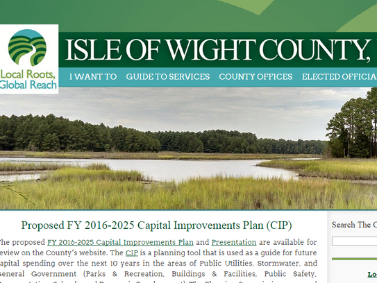 Restored Isle of Wight County Website